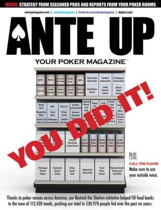 Ante Up's March 2020 cover